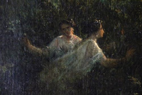 Antiquités - Emmanuel Coulange-Lautrec (1824-1898) - Orpheus playing in the moonlight