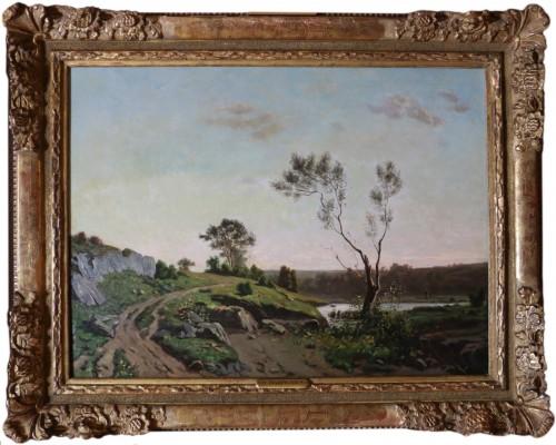 Henri Joseph Harpignies (1819-1916) - Landscape of the Burgundy countryside