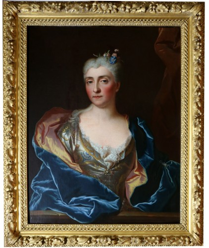-Portait of a lady of quality -  Workshop of Hyacinthe Rigaud (1659-1743)