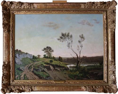 Henri Joseph Harpignies (1819-1916) -Landscape of the Burgundy countryside around 1880