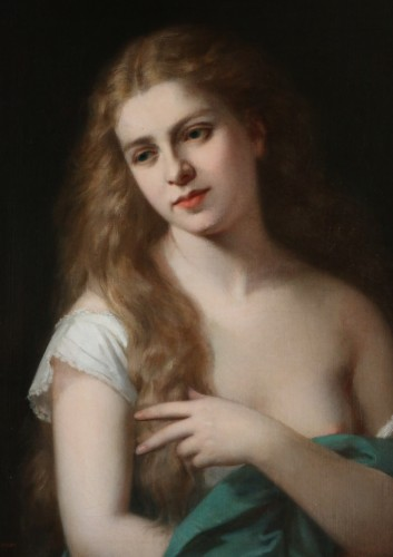 Paintings & Drawings  - Pierre Paul Emmanuel de POMMAYRAC (1807-1880) Portrait of a girl
