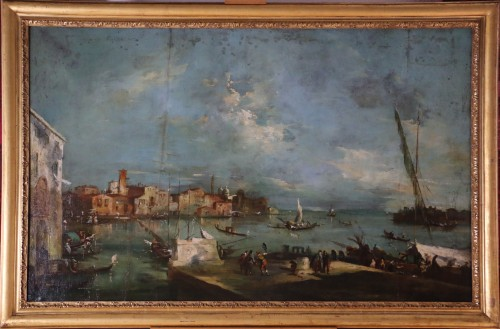 School of Francesco Guardi of the late 18th-Venice View