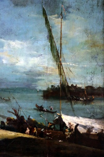 School of Francesco Guardi of the late 18th-Venice View -