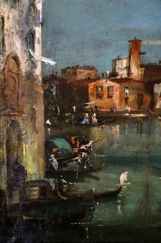 Directoire -  School of Francesco Guardi of the late 18th-Venice View