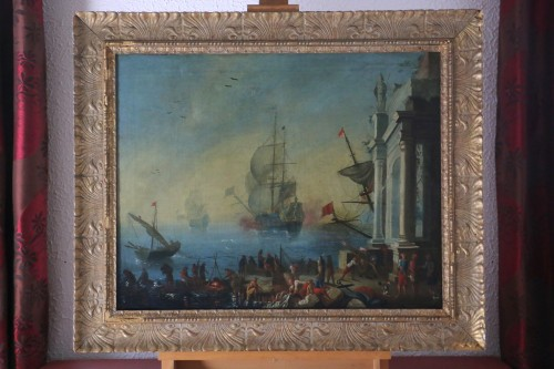 French school of the late eighteenth follower of Adrien Manglard-Marine - Paintings & Drawings Style Louis XVI