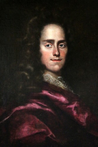 Paintings & Drawings  - Portait of a young Lord - English School of the 17th century attributed to Godfrey Kneller (1646-1723