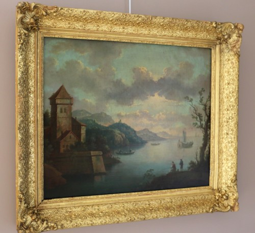 Live maritime landscape -  French School of the late eighteenth attributed to Louis-Philippe Crépin  - Paintings & Drawings Style Directoire