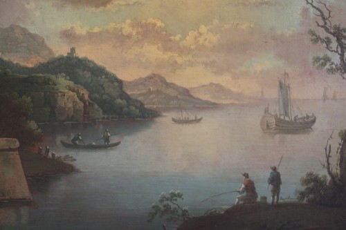 Live maritime landscape -  French School of the late eighteenth attributed to Louis-Philippe Crépin  -