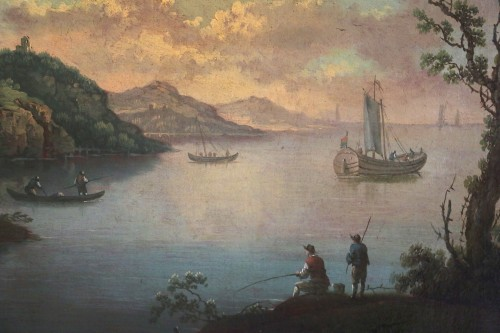 18th century - Live maritime landscape -  French School of the late eighteenth attributed to Louis-Philippe Crépin