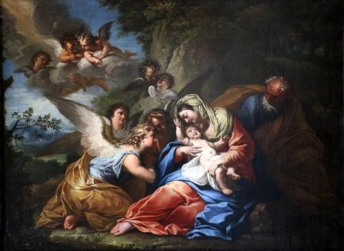 17th century Roman School attributed to Francesco Trévisani (1656-1746) - Paintings & Drawings Style