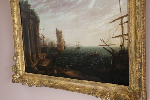 Paintings & Drawings  - Marine and Architectural Whim - Workshop of Joseph Vernet (1714-1789)