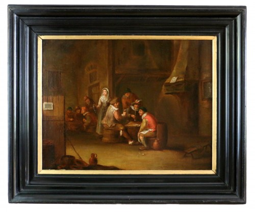 18th century Dutch school - indoor scene of a tavern