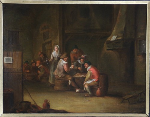 18th century Dutch school - indoor scene of a tavern - Paintings & Drawings Style