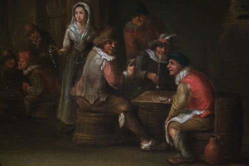 18th century Dutch school - indoor scene of a tavern -