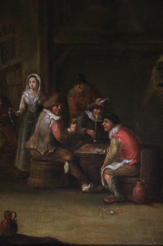 18th century -  18th century Dutch school - indoor scene of a tavern