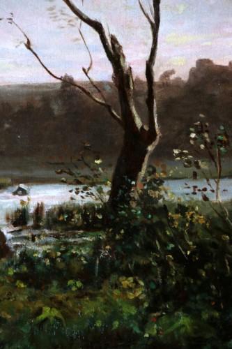 - Henri Joseph Harpignies (1819-1916) -Landscape of the Burgundy countryside