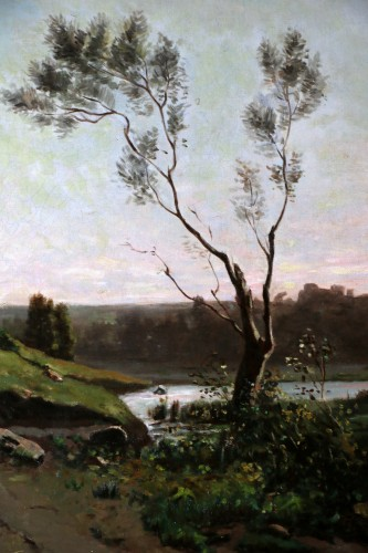Antiquités - Henri Joseph Harpignies (1819-1916) -Landscape of the Burgundy countryside