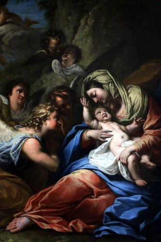 17th century - The rest of the holy family - 17th century Roman School attributed to Francesco Trévisani (1656-1746)