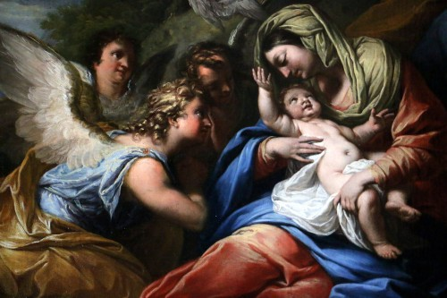 Louis XIV - The rest of the holy family - 17th century Roman School attributed to Francesco Trévisani (1656-1746)