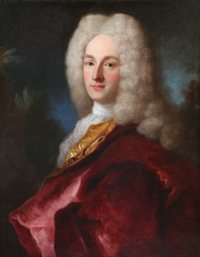 Henri Millot (died in 1759) pupil of Nicolas de Largillières-attributed - Paintings & Drawings Style Louis XIV