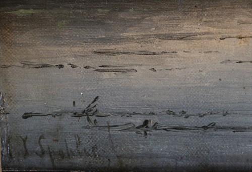 Jan Jacob Spohler (1811-1879) - Animated landscape along a canal - Louis-Philippe