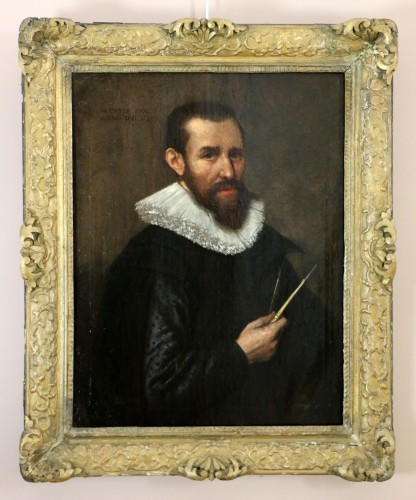 Venetian school of the early 17th century-Portrait of an architect dated 1