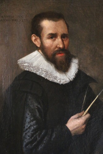 Paintings & Drawings  -  Venetian school of the early 17th century-Portrait of an architect dated 1