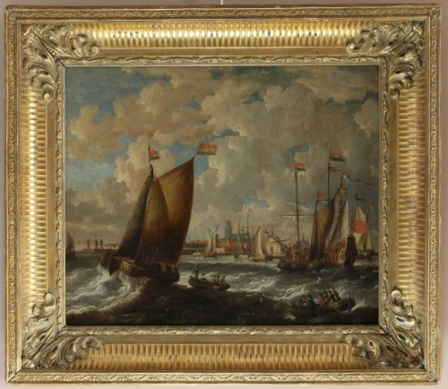 Marine -  Peter van den Velde (1634-1687)