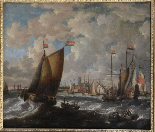 Marine -  Peter van den Velde (1634-1687) - Paintings & Drawings Style Louis XIII