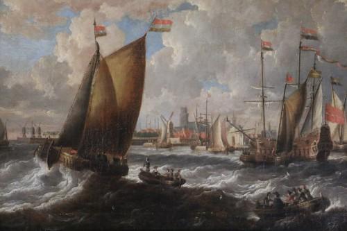 Paintings & Drawings  - Marine -  Peter van den Velde (1634-1687)