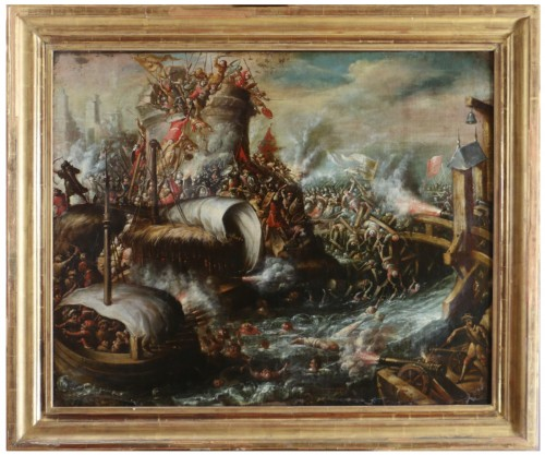 The Turks crossed the Danube - Attributed to  Juan de la Corte (1597-1660)