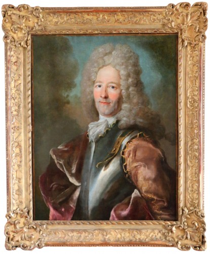 Joseph Vivien (1657-1734) attributed - Portrait of a dignitary of the kingd