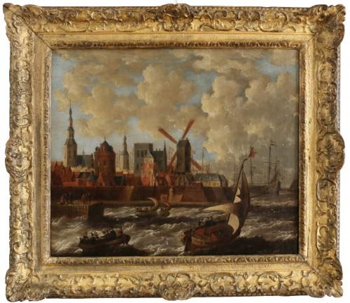 Port city of Holland - Peter van den Velde (1634-1687)