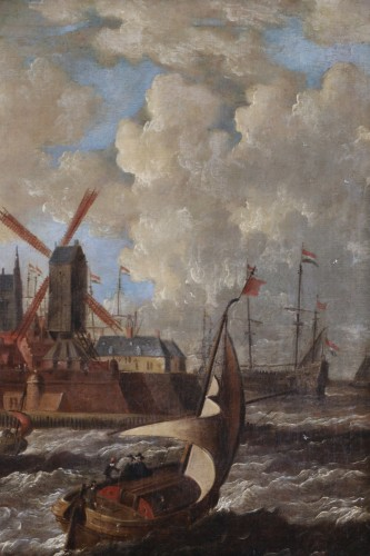 Port city of Holland - Peter van den Velde (1634-1687) -