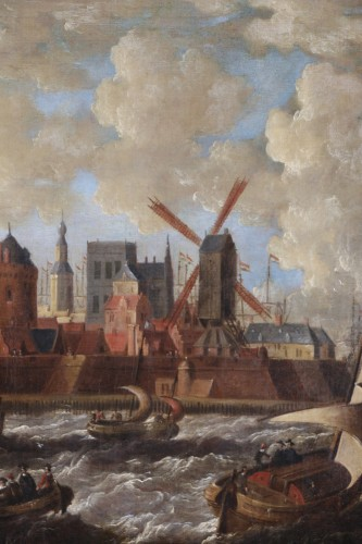 Port city of Holland - Peter van den Velde (1634-1687) - Louis XIII
