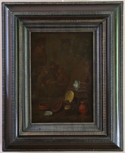 18th century Dutch school - Tavern scene and still life