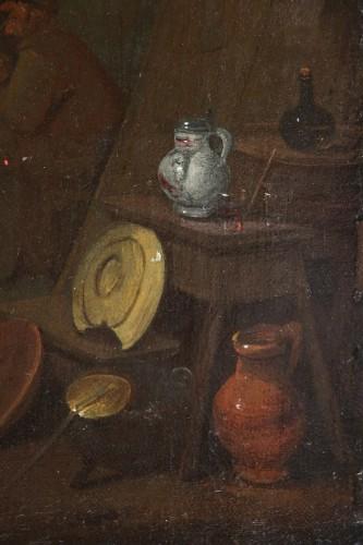 Paintings & Drawings  - 18th century Dutch school - Tavern scene and still life