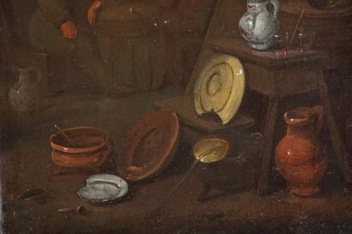 18th century Dutch school - Tavern scene and still life - Louis XVI