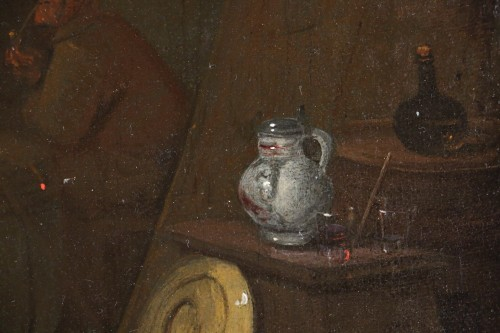 Louis XVI - 18th century Dutch school - Tavern scene and still life