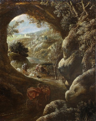 Joos II of Momper (1564-1635) attributed - Animated landscape