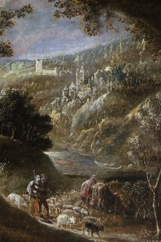 <= 16th century - Joos II of Momper (1564-1635) attributed - Animated landscape