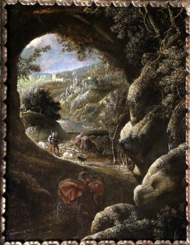 - Joos II of Momper (1564-1635) attributed - Animated landscape