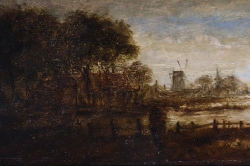 17th century - Landscape at sunset - attribué,  to  Aert Ivan der Neer (1603-1677)