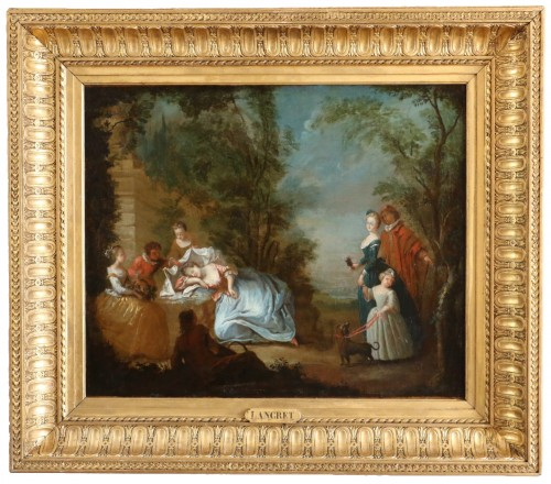 Nicolas Lancret (1690-1743) and Atelier - Scène gallant in a park