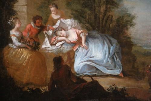 Paintings & Drawings  -  Nicolas Lancret (1690-1743) and Atelier - Scène gallant in a park