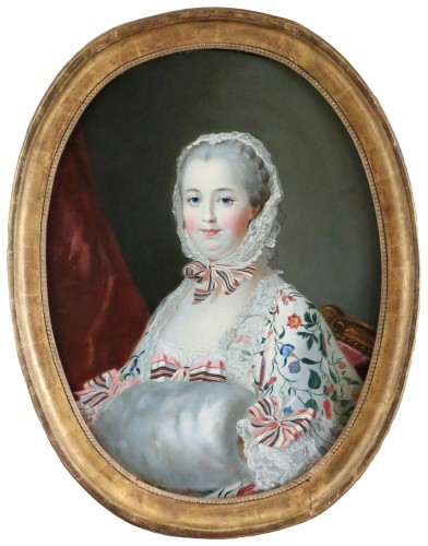 Madame De Pompadour  French school of the 19th century after Drouais