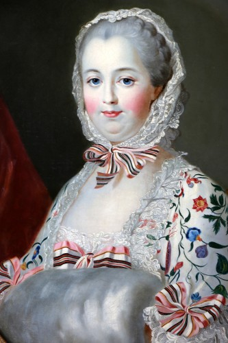 Madame De Pompadour  French school of the 19th century after Drouais - Paintings & Drawings Style Napoléon III