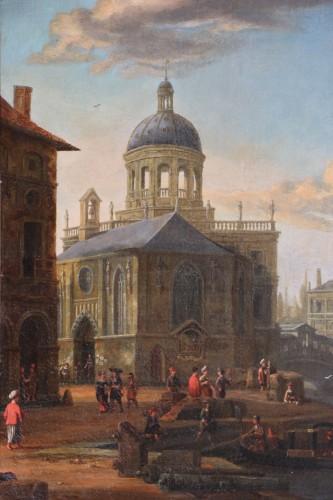 Paintings & Drawings  -  Jacobus Storck (Amsterdam, 1641-1687) signed-Marine and Venetian capriccio