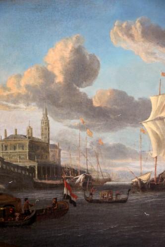 Jacobus Storck (Amsterdam, 1641-1687) signed-Marine and Venetian capriccio -