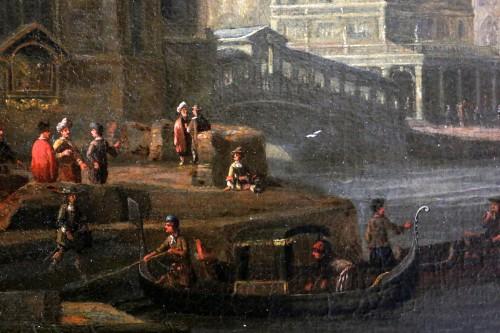 Antiquités -  Jacobus Storck (Amsterdam, 1641-1687) signed-Marine and Venetian capriccio